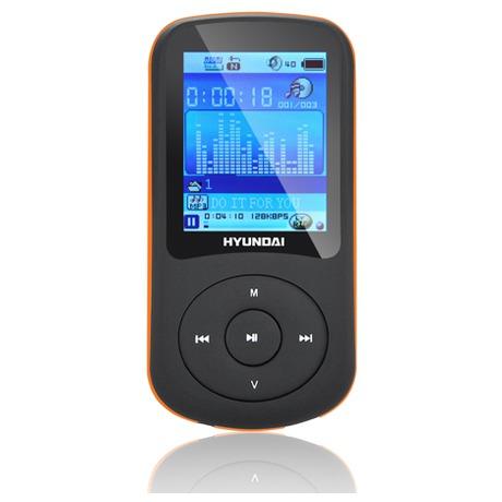 MP3 přehrávač Hyundai MPC 401 FM, 8GB, černý/oranžový - Hyundai HYUMPC401GB8FMBO (foto 1)
