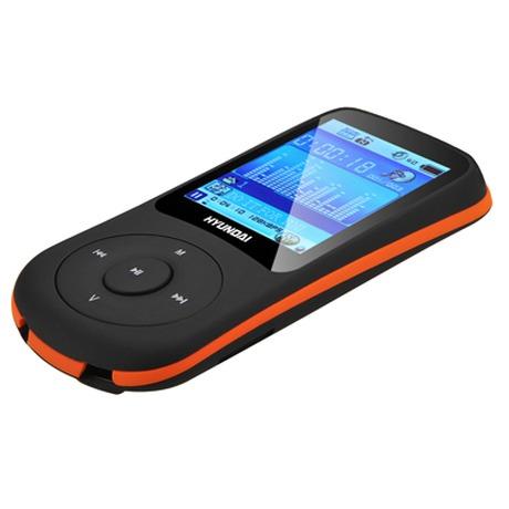 MP3 přehrávač Hyundai MPC 401 FM, 8GB, černý/oranžový - Hyundai HYUMPC401GB8FMBO (foto 2)