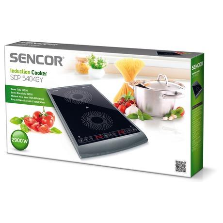 Dvouplotýkový indukční vařič Sencor SCP 5404GY - Sencor 41000066 (foto 6)