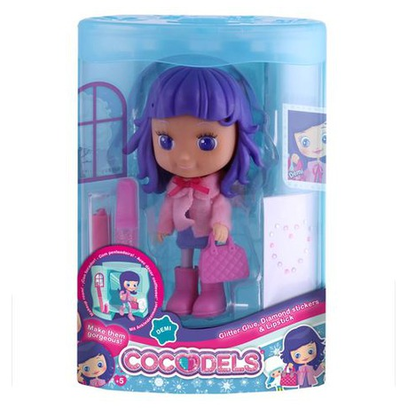 Panenka Cocodels Demi plast 16cm s pokojíčkem + make-up doplňky v krabičce - Teddies TED-00029942 (foto 2)
