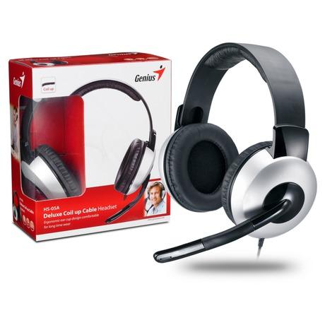 Headset Genius HS-05A - černý/stříbrný - Genius GENHS05A (foto 3)