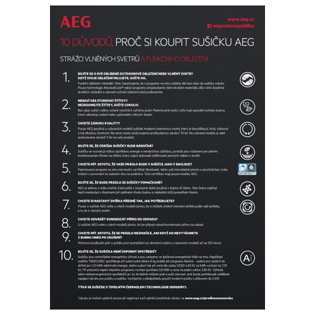 Sušička prádla AEG AbsoluteCare® T8DBE68SC - AEG AEGL7FEC41SCSETOS3 (foto 26)