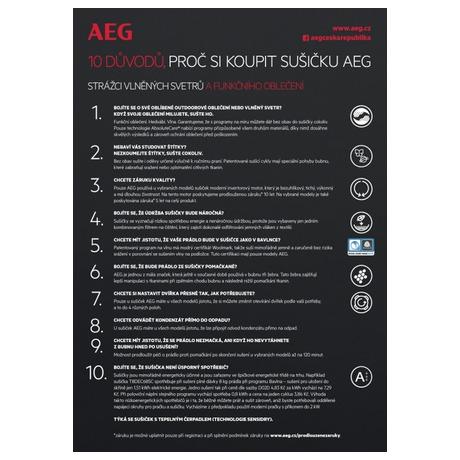 Sušička prádla AEG AbsoluteCare® T8DBG47WC - AEG AEGL8FEC68SCSETOS7 (foto 48)