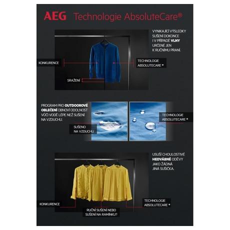 Sušička prádla AEG AbsoluteCare® T8DBG48WC - AEG AEGL8FEC49SCSETOS5 (foto 27)