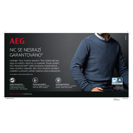 Sušička prádla AEG AbsoluteCare® T8DBG48WC - AEG AEGL8FEC49SCSETOS5 (foto 28)