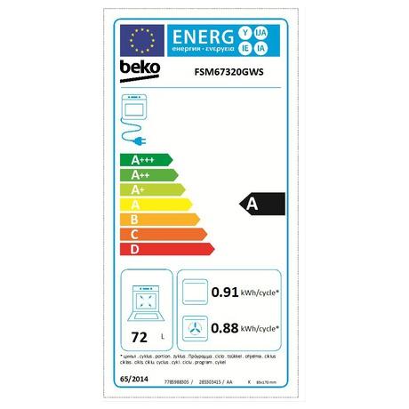Energetický štítek - Beko BEKFSM67320GXS (foto 2)