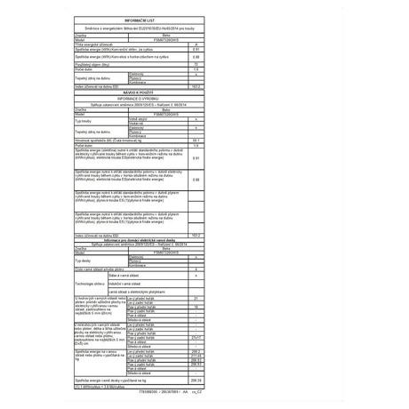 Informační list - Beko BEKFSM67320GXS (foto 3)