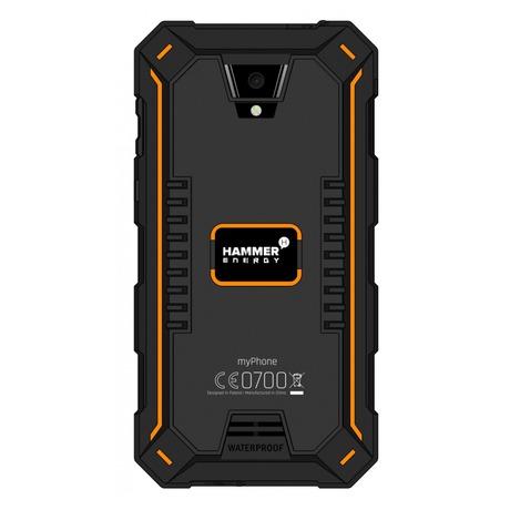 Mobilní telefon myPhone HAMMER ENERGY Dual SIM - černý/oranžový - myPhone MYPMYAHAENEROR (foto 1)