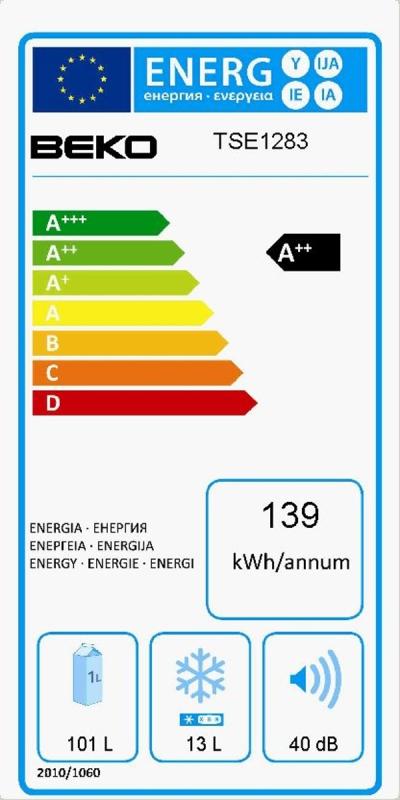 Energetický štítek BEKO TSE 1283