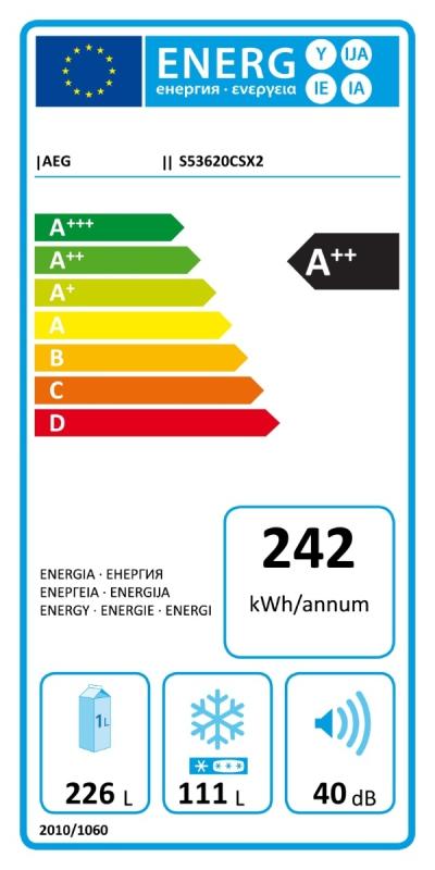 Energetický štítek AEG S53620CSX2