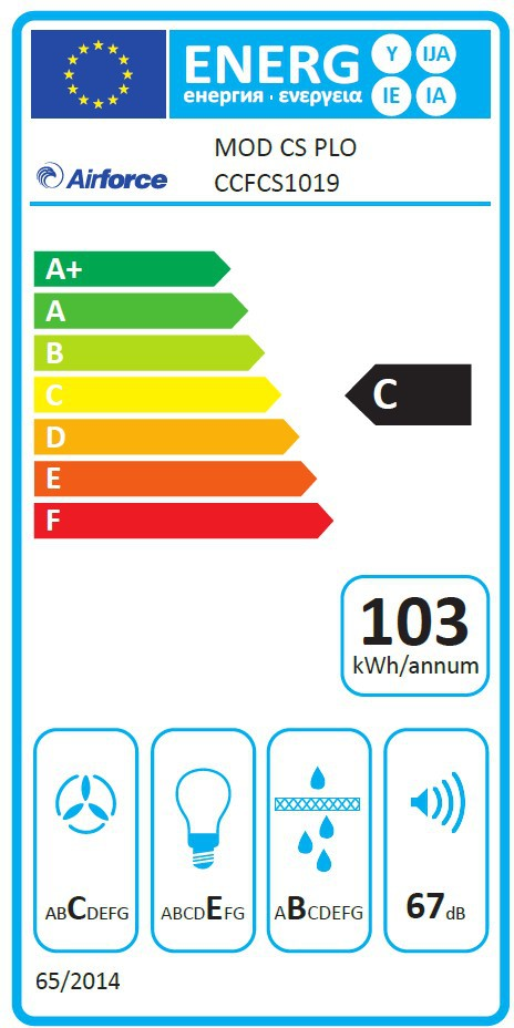 Energetický štítek AirForce Modulo 52 X