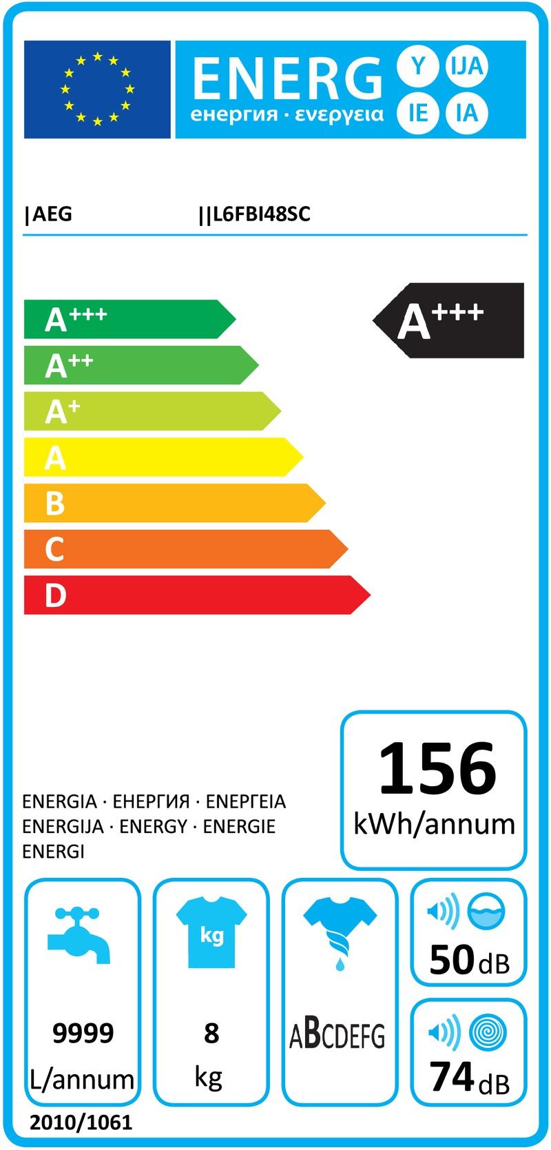 Energetický štítek AEG L6FBI48SC