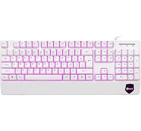 Klávesnice C-TECH KB-104W, USB, 3 barvy podsvícení, bílá, CZ/SK - C-Tech
