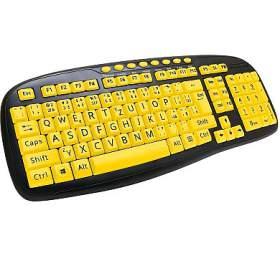Klávesnice C-TECH KB-103MS, kontrastní, černo-žlutá, multimediální, USB, CZ/SK - C-Tech
