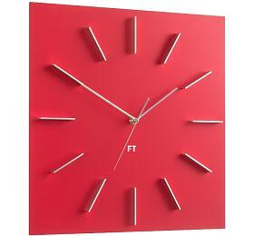 Designové nástěnné hodiny Future Time FT1010RD Square red 40cm - Future Time