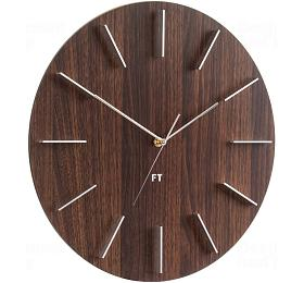 Designové nástěnné hodiny Future Time FT2010WE Round dark natural brown 40cm - Future Time