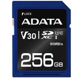 ADATA Premier Pro 256GB SDXC/ UHS-I U3 V30S CL10 (ASDX256GUI3V30S-R) - ADATA