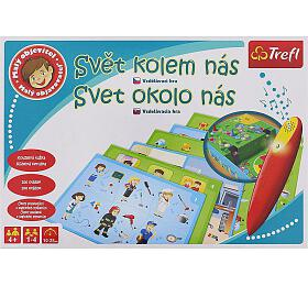 Malý objevitel Svět kolem nás + kouzelná tužka edukační společenská hra v krabici 33x23x6cm - TREFL