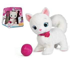 Kočka Bianca mluvící hýbající se plyš 25cm na baterie v krabici - Teddies