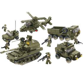 SLUBAN stavebnice Pozemní Jednotky, 996 dílků (kompatibilní s LEGO) (M38-B0311) - SLUBAN