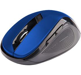 Myš C-TECH WLM-02, černo-modrá, bezdrátová, 1600DPI, 6 tlačítek, USB nano receiver - C-Tech