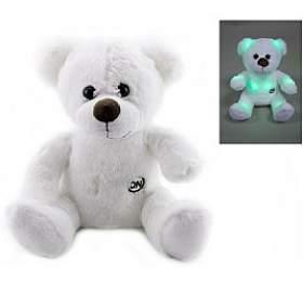 Medvěd/medvídek svítící plyš 26cm na baterie - Teddies