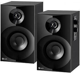 C-TECH repro SPK-14, 2.0, dřevěné, černé - C-Tech