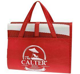 Plážová podložka CALTER - taška Rulyt, plastová, červená - Rulyt