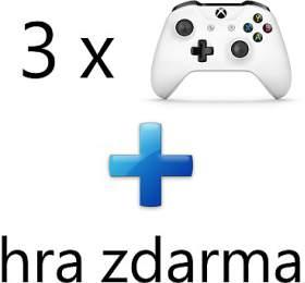 AKCE: 3 x XBOX ONE - Bezdrátový ovladač Xbox One, bílý + 1 hra ZDARMA (3contr--1game) - Microsoft