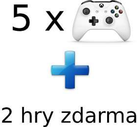 AKCE: 5 x XBOX ONE - Bezdrátový ovladač Xbox One, bílý + 2 hry ZDARMA (5contr--2game) - Microsoft
