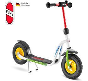 Koloběžka PUKY Scooter R 03 L, bílá/kiwi - PUKY