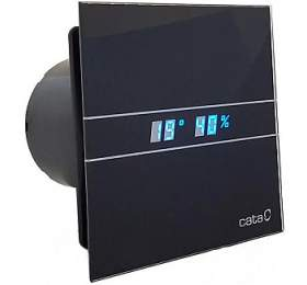 CATA e100 GBTH sklo hygro časovač černý - Cata