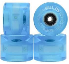 Kolečka Penny board BLUE TRANSPARENT LIGHT 60 x 45mm 85A (sada 4ks s ložisky ABEC-7 chrome) Sulov - Sulov