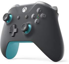 XBOX ONE - Bezdrátový ovladač Xbox One, šedá/modrá (WL3-00106) - Microsoft