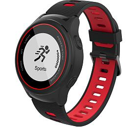iGET ACTIVE A4 Black - chytré hodinky, IP68, GPS, LCD, BT 4.0, export Strava, LCD, 500mAh,Multisport - iGET
