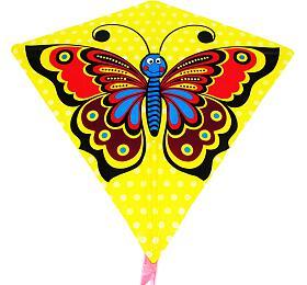 Drak létající motýl plast 68x73cm v sáčku - Wiky