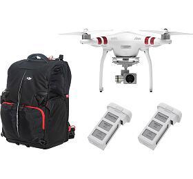 DJI kvadrokoptéra - dron, Phantom 3 Standard, 2 baterie navíc, DJI batoh pro Phantom 3 a 4 (DJI0326MC) - DJI