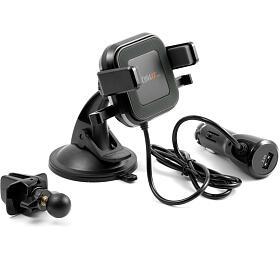 Technaxx bezdrátová nabíječka do auto s držákem pro smartphone, 10W, (TE17) (4780) - Technaxx