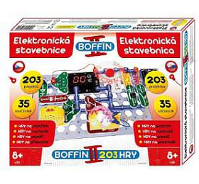 Stavebnice Boffin II. 203 elektronická 203 projektů na baterie 35ks v krabici 40x30x7cm - Conquest
