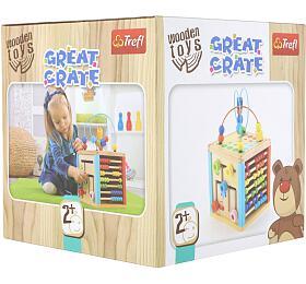 Kostka edukační dřevěná Wooden Toys v krabici 21x21x21cm 2+ - TREFL
