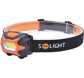 Solight čelová LED svítilna, 3W COB LED, oranžovočerná, 3x AAA WH25 - -