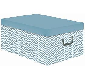 Skládací úložná krabice - karton box Compactor Nordic 50 x 40 x 25 cm, světle modrá - Compactor
