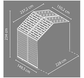 Palram Rozšíření pro Skylight 8x4 hnědý - Palram