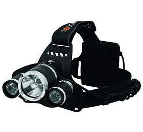 Solight LED čelová svítilna SUPER POWER, 900lm, 3x Cree LED, 4x AA - Solight