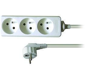 Solight prodlužovací přívod, 3 zásuvky, bílý, 3m - Solight