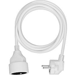Solight prodlužovací kabel - spojka, 1 zásuvka, bílá, 3m - Solight