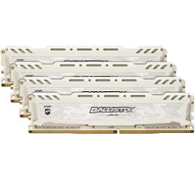 32GB DDR4 2400MHz Crucial Ballistix Sport LT CL16 4x8GB White (BLS4K8G4D240FSCK) - CRUCIAL