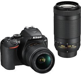 NIKON D3500 Black + 18-55 VR AF-P + 70-300 VR - Nikon