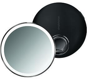 Kapesní kosmetické zrcátko Simplehuman Sensor Compact, LED osvětlení, dobíjecí, 3x, černé - Simplehuman