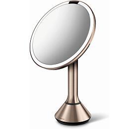 Kosmetické zrcátko Simplehuman Sensor Touch, LED osvětlení, 5x, dobíjecí, rose gold - Simplehuman